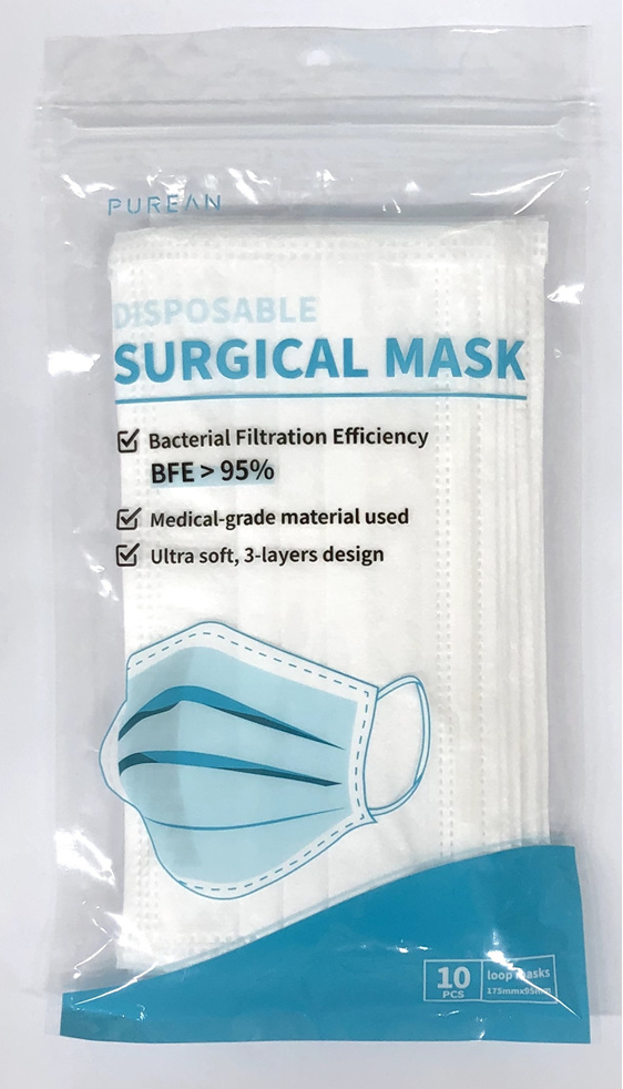 PUREAN FACEMASK 10 PACK RESEALABLE