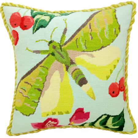 Puriri Moth Needlepoint Cushion Kit by Arna Horn