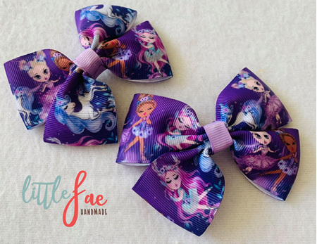 Purple Ballerina Hair Bows