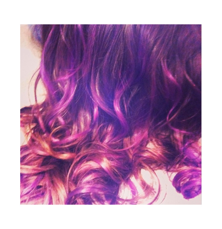 Purple Coloured Bleach