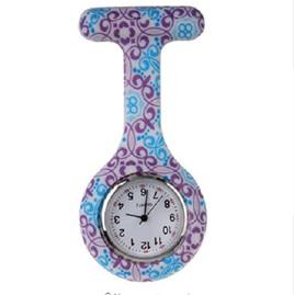 Purple & Blue Pattern Nurse Watch
