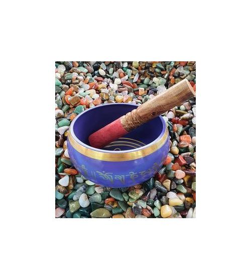 Purple Brass Singing Bowl 14cm