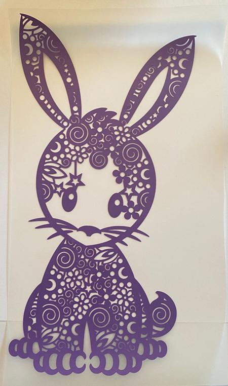 Purple Bunny Heat Press Vinyl