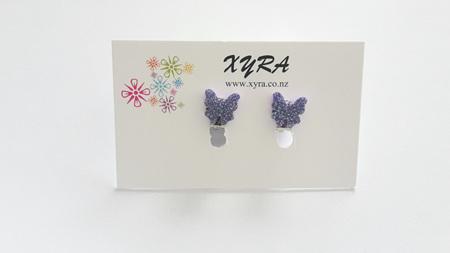Purple Butterfly Clip-on Earrings