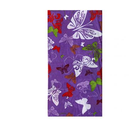 Purple Butterfly Half Mask Scarf