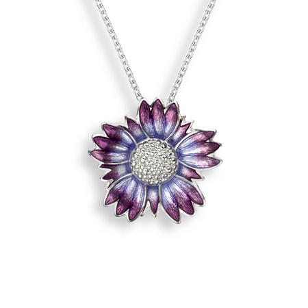 Purple Coastal Tidytip Flower Pendant