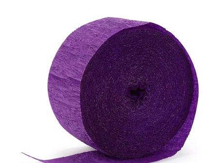 Purple crepe paper