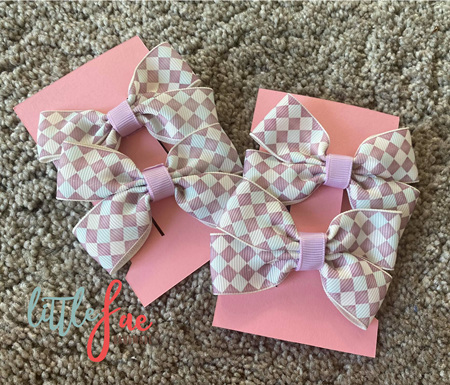 Purple Diamond Hair Bows