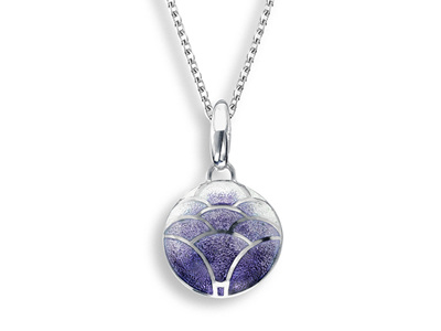Purple Enamel Lotus Flower Necklace