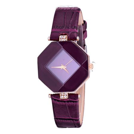 Purple Fashion Rhinestone Ladies Dress Watch