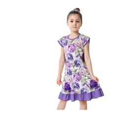 Purple & Floral DRESS SIZE 8