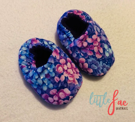Purple Flower Baby Shoes