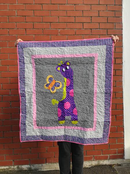 Purple Giraffe Quilt