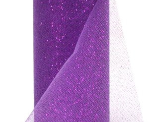 Purple glitter tulle