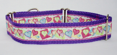 Purple Hearts Collar