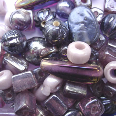 Purple Lustre Bead Mix