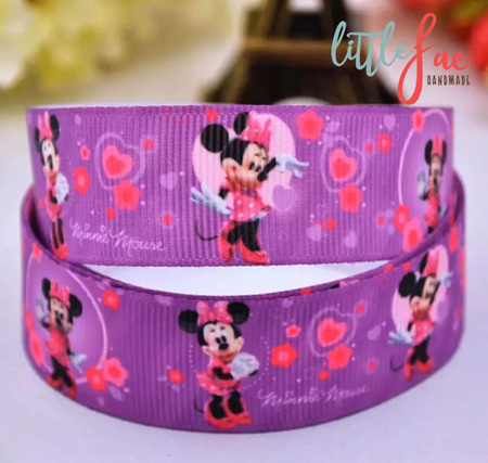 Purple Minnie Mouse Hair Bows