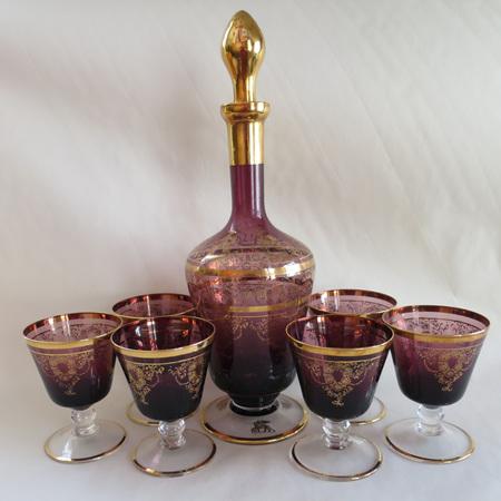 Purple Murano glass