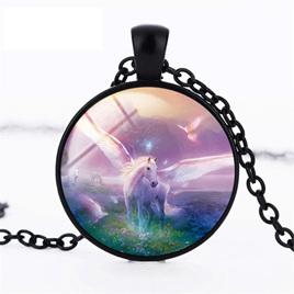 Purple Mystical Unicorn Necklace