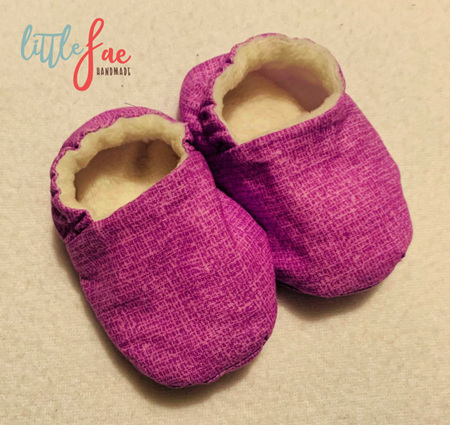 Purple Pattern Baby Shoes