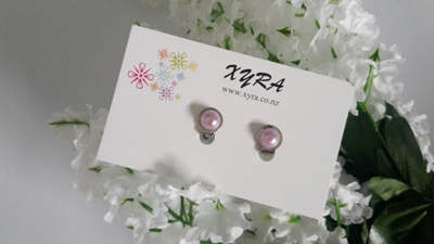 Purple Pearl Clip-on Earrings