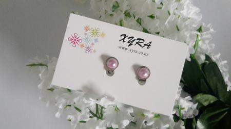 Purple Pearl Clip-on Earrings
