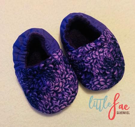 Purple Petal Baby Shoes