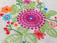 purple pinwheel embroidery kit