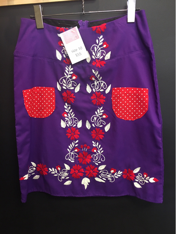 Purple & Red Skirt - Adult Size 10