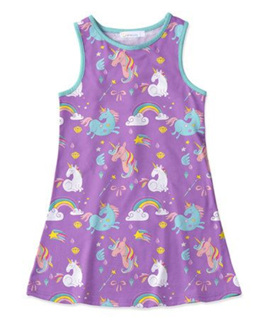 Purple Sleeveless Unicorn Dress - Size 1