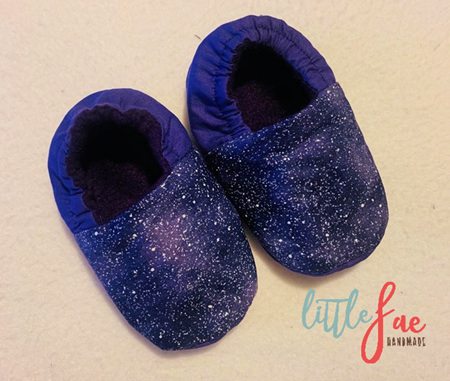 Purple Speckle Baby Shoes