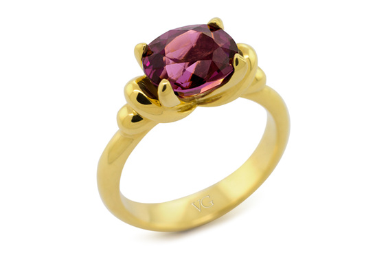 purple spinel dress ring