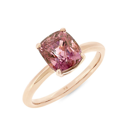 Purple Spinel Solitaire Ring