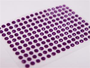 Purple stick on rhinestones