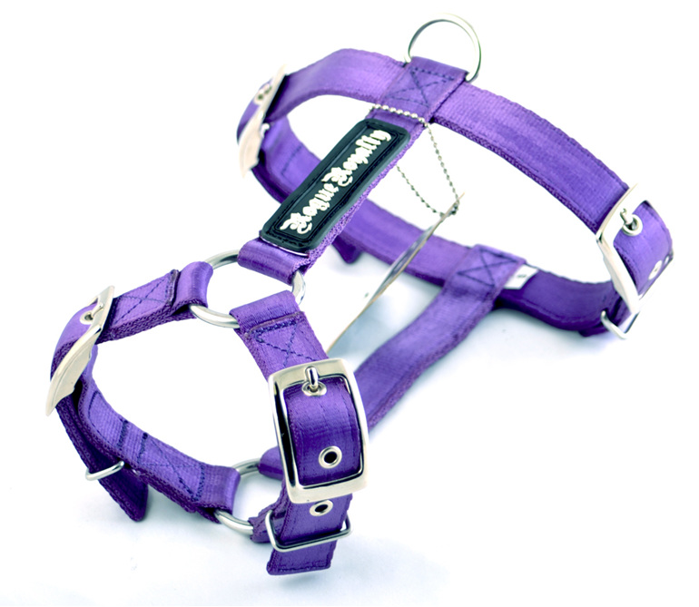 Purple Strong Nylon Dog Harness by Rogue Royalty