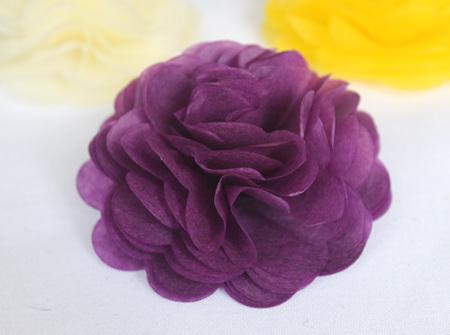 Purple tissue flowers