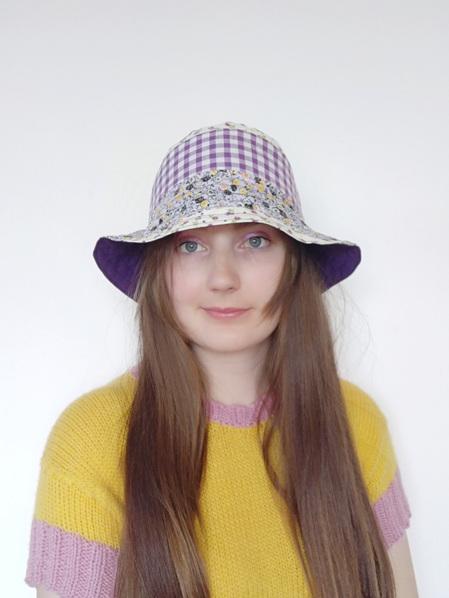 Purple Vintage Floral Bucket Hat