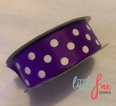 Purple & White Polka Dot Hair Bows