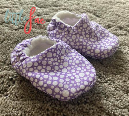 Purple & White Polka Dot Slipper Shoes