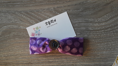 Purple with Button Ribbon