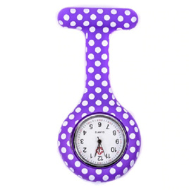Purple with White Spots Nurses Watch