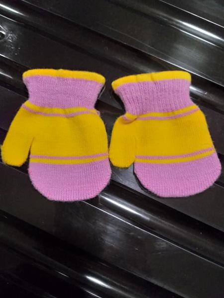 Purple & Yellow Mittens 1-3yrs