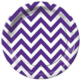 Purple Zig Zag Stripes Party range