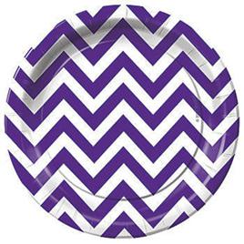 Purple Zig Zag Stripes Party range