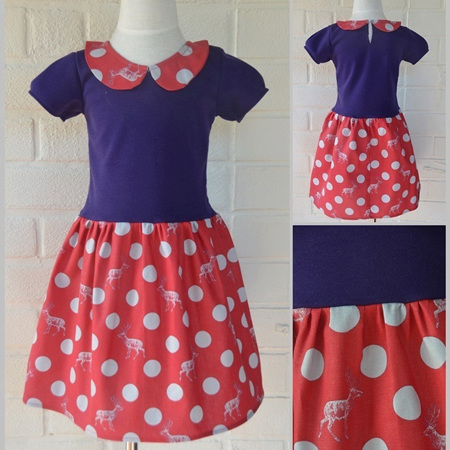 Purple/Deer Wendy Dress Size 4