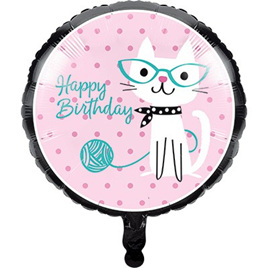 Purrfect cat balloon foil 45cm