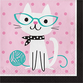 Purrfect lunch napkins