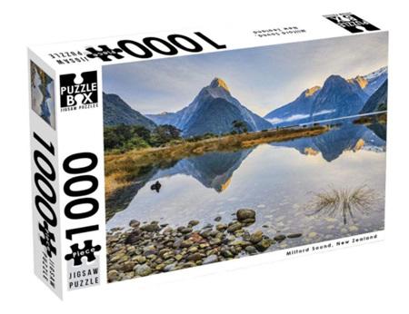 Puzzle Box 1000 Piece Jigsaw Puzzle. Milford Sound NZ