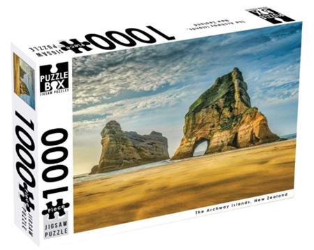 Puzzle Box 1000  Piece Jigsaw Puzzle: Archway Islands NZ