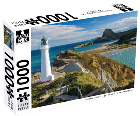 Puzzle Box 1000 Piece Jigsaw Puzzle Castle Point Lighthouse